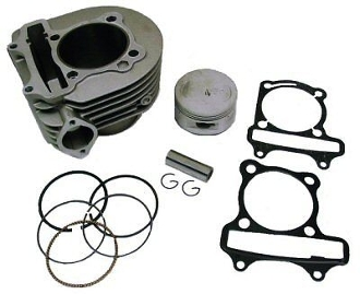 180cc 63mm Big Bore Cylinder Kit for 150cc GY6 Chinese Scooters
