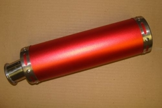 50CC HIGH PERFORMANCE (RED) EXHAUST MUFFLER & PIPE SYSTEM