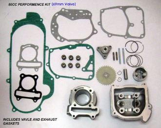 80CC BIG BORE KIT FOR SCOOTERS WITH 50cc, 60cc, MOTORS 69MM