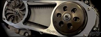 COMPOSIMO Billet Aluminum Open CVT Drive Cover For 150cc GY6