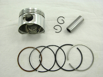 125cc PISTON and RINGS (52mm) FOR 125cc GY6 QMI/152 MOTORS