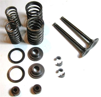 50cc VALVE ASSEMBLY SET FOR SCOOTERS WITH QMB139 MOTORS (64mm)