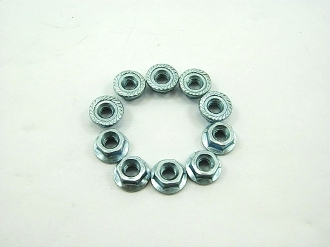 M4 FLANGE NUTS (10 PIECES) FOR SCOOTERS, ATVS, AND DIRT BIKES