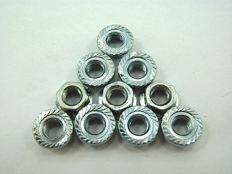 M5 FLANGE NUTS (10 PIECES) FOR SCOOTERS, ATVS, AND DIRT BIKES