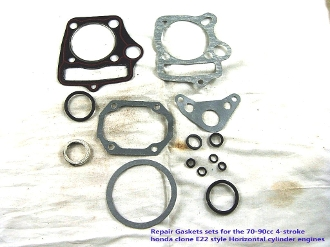70cc GASKET KIT FOR CHINESE ATVS, AND DIRT / PIT BIKES WITH E22