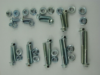 6mm FLANGE BOLT AND NUT SET 36 PIECES FOR CHINESE SCOOTERS, ATVS