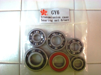 TAIDA HIGH PERFORMANCE GY6 6-Piece Transmission Case Bearing Set
