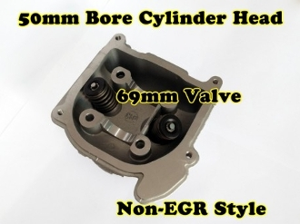 100cc CYLINDER HEAD WITH 69mm VALVES INSTALLED FOR SCOOTERS